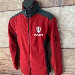 Indiana Hoosiers fleece jacket medium men's
